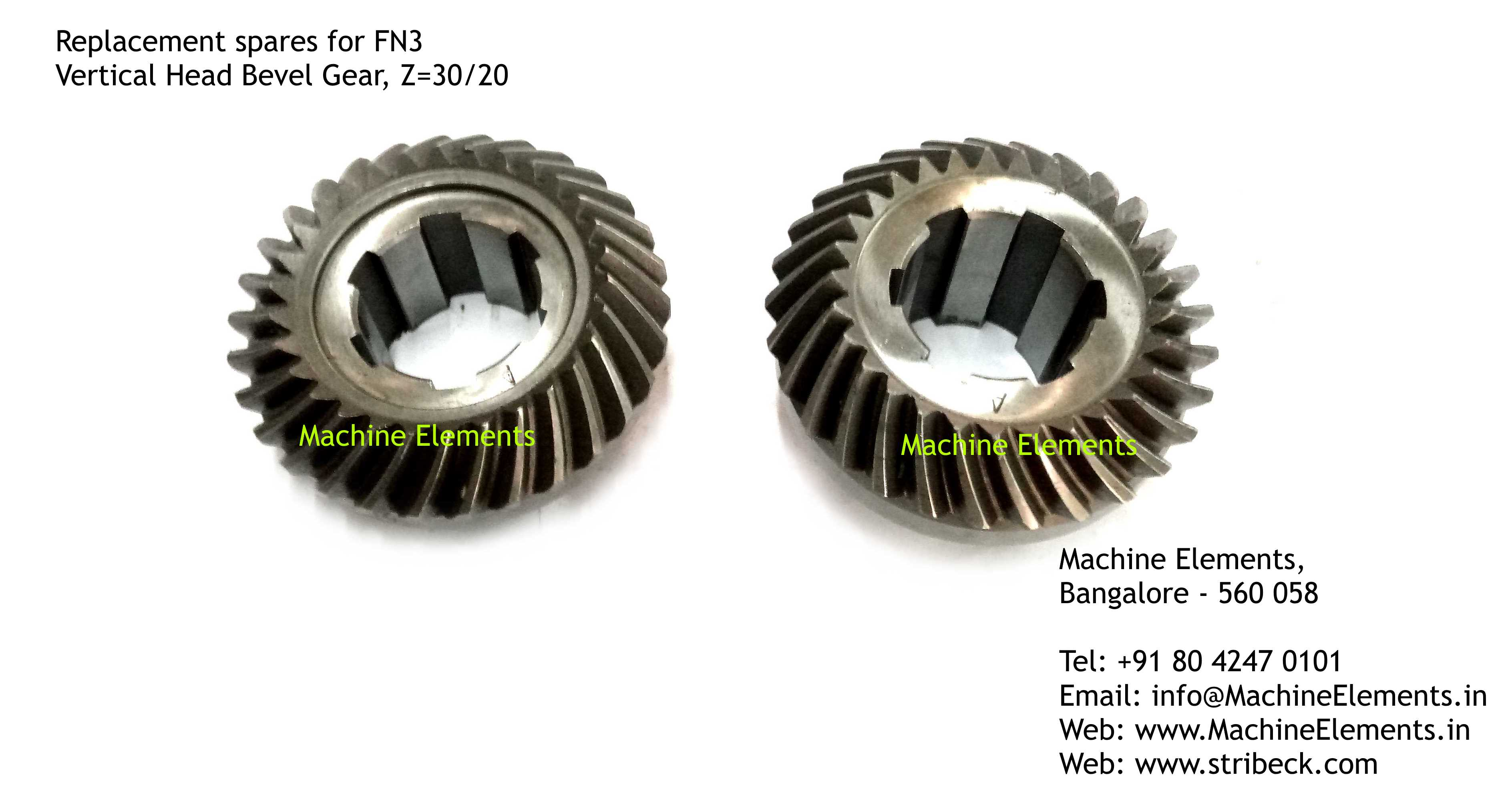 Vertical Head Bevel Gear, Z=30 & 29