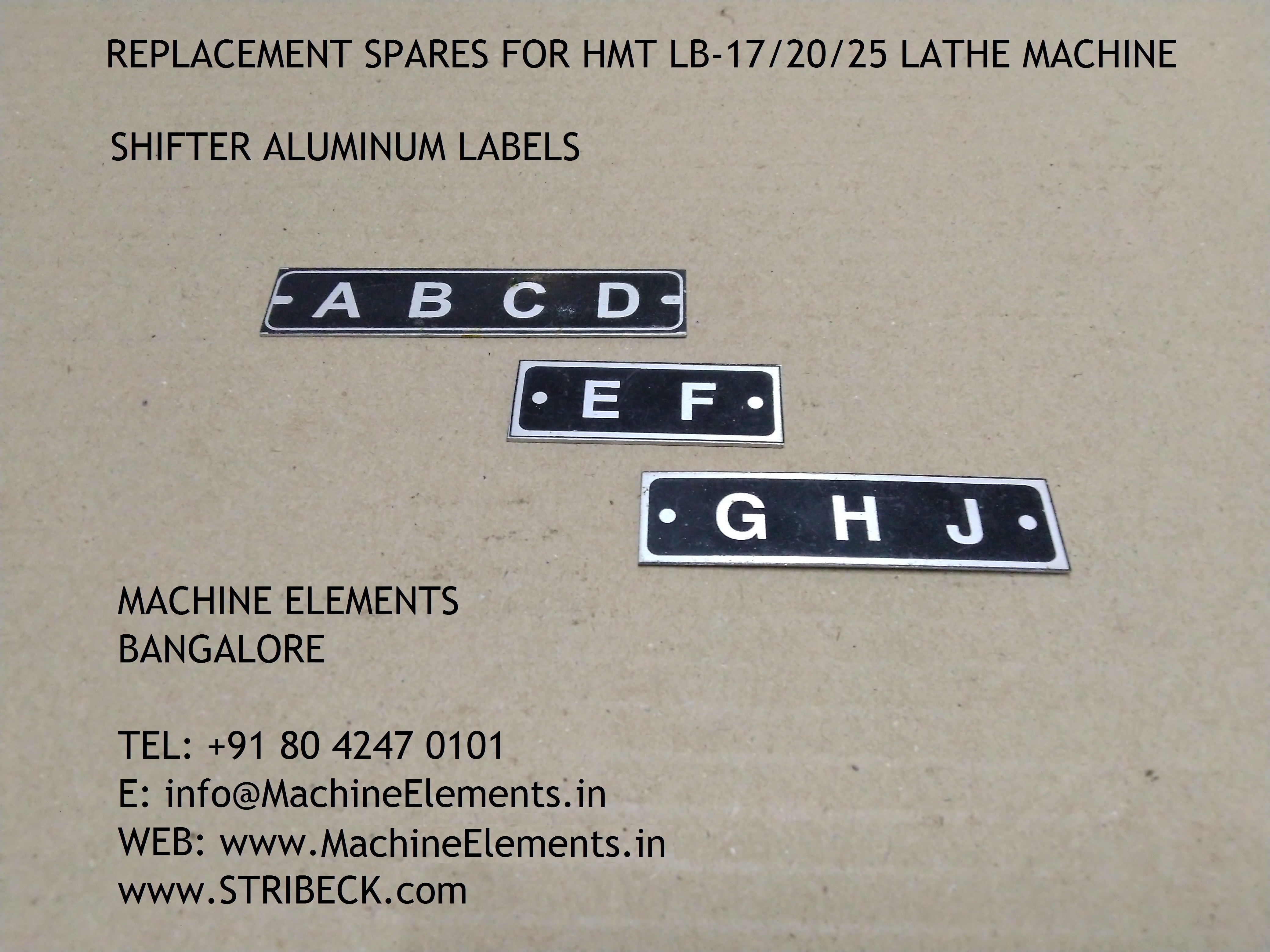 SHIFTER ALUMINUM LABELS