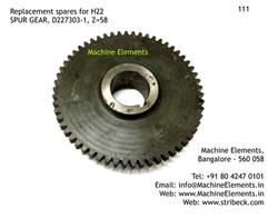 SPUR GEAR, D227303-1, Z=58
