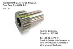Spur Gear, D1658004, Z=21