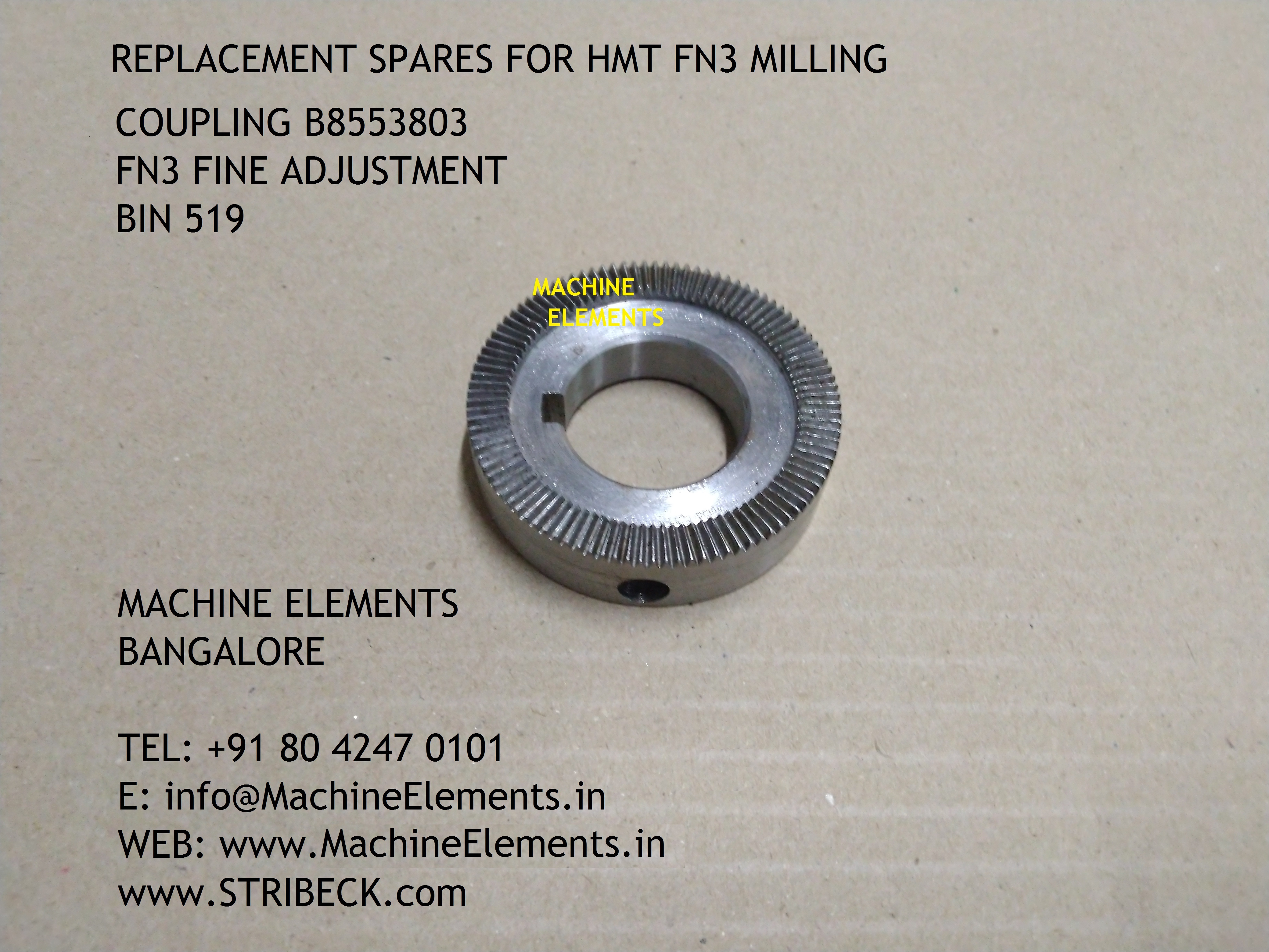 Coupling B8553803  FN3 fine adjustment -