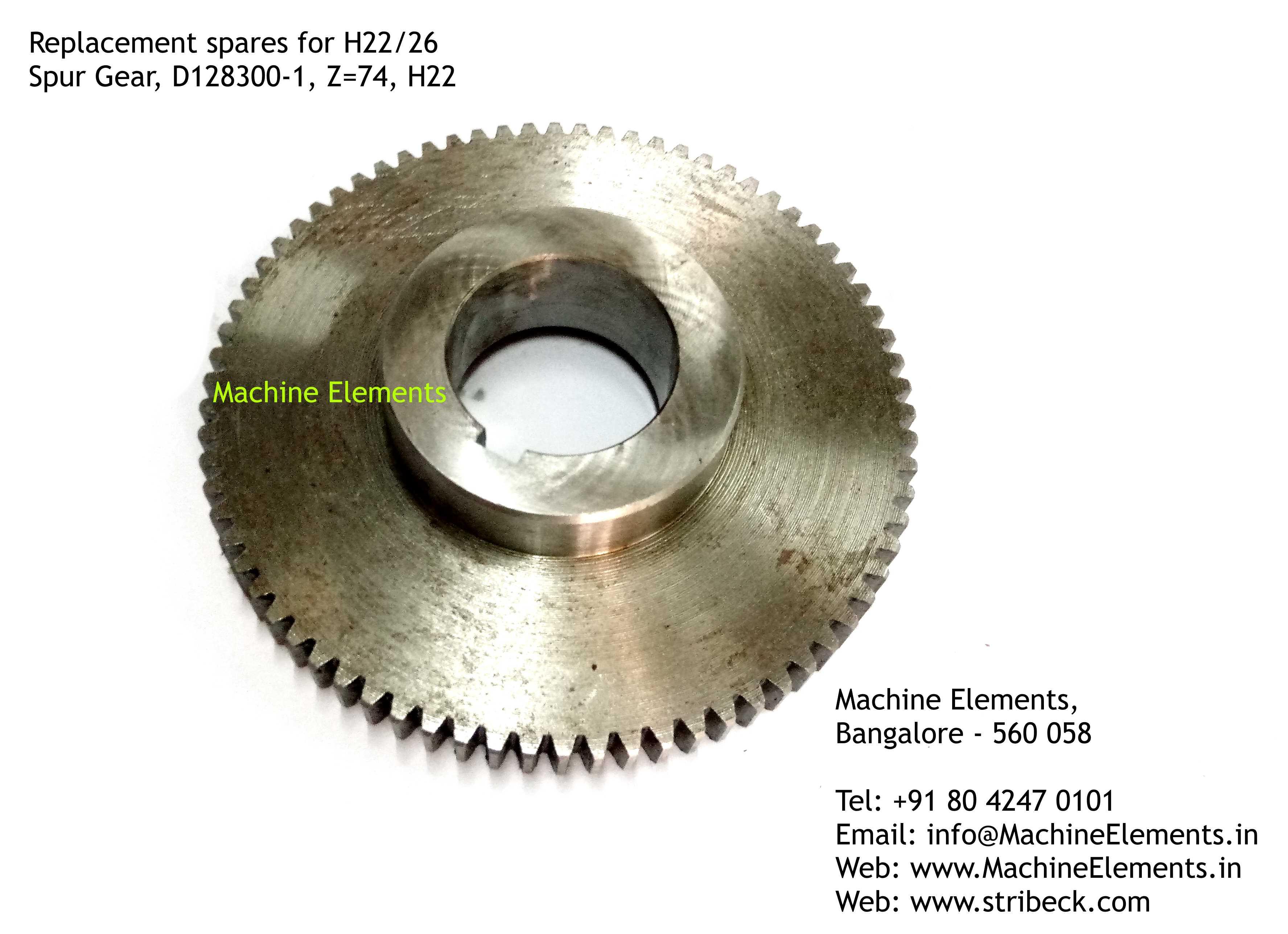 Spur Gear, D128300-1, Z=74