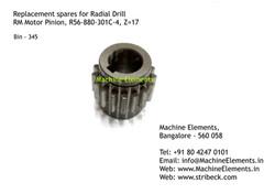 RM Motor Pinion, R56-880-301C-4, Z=17