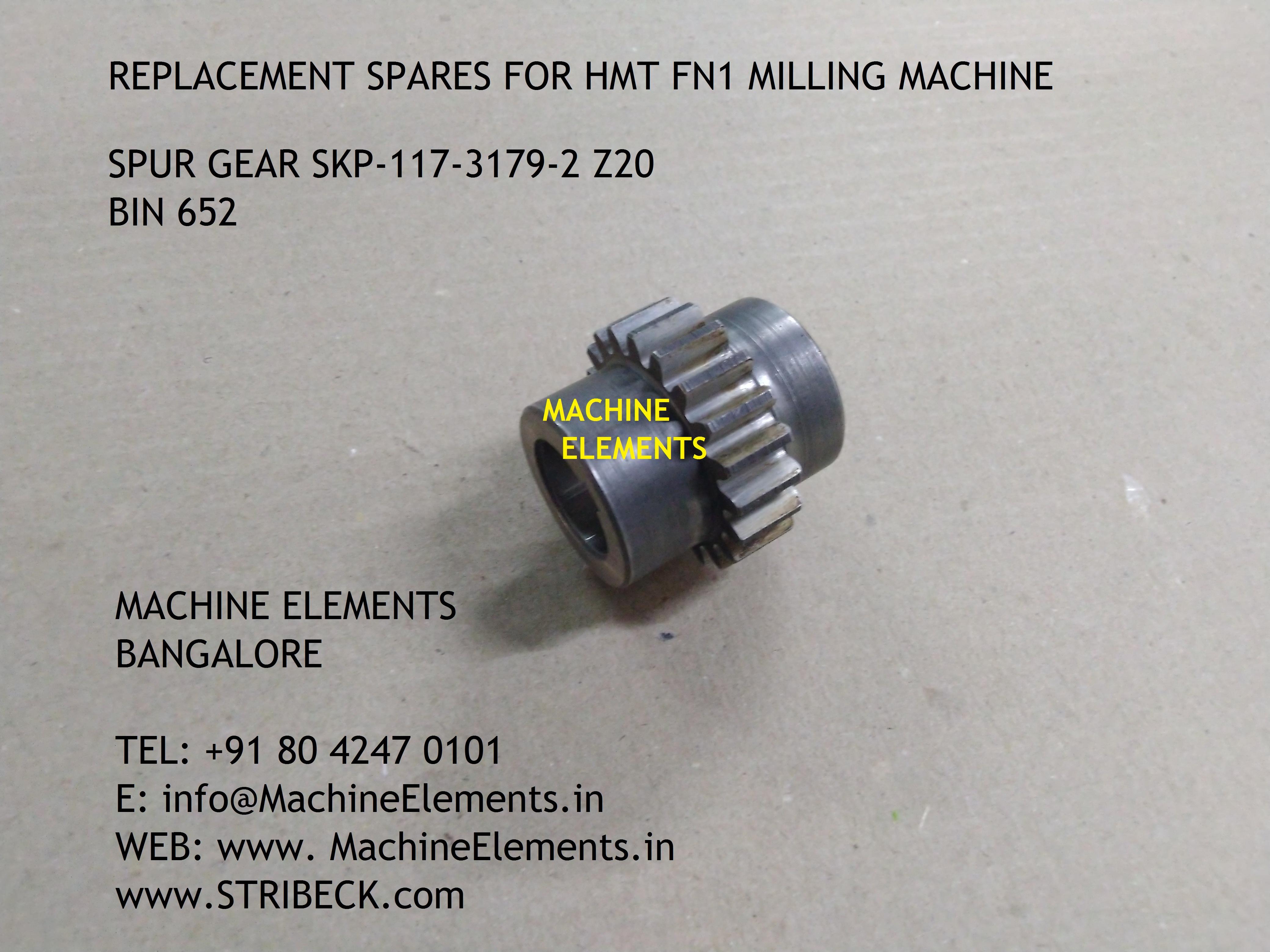 SPUR GEAR SKP-117-3179-2 z20 BIN 652