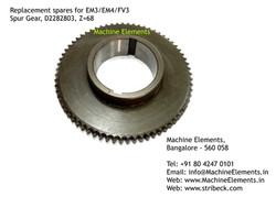 Spur Gear, D2282803, Z=68