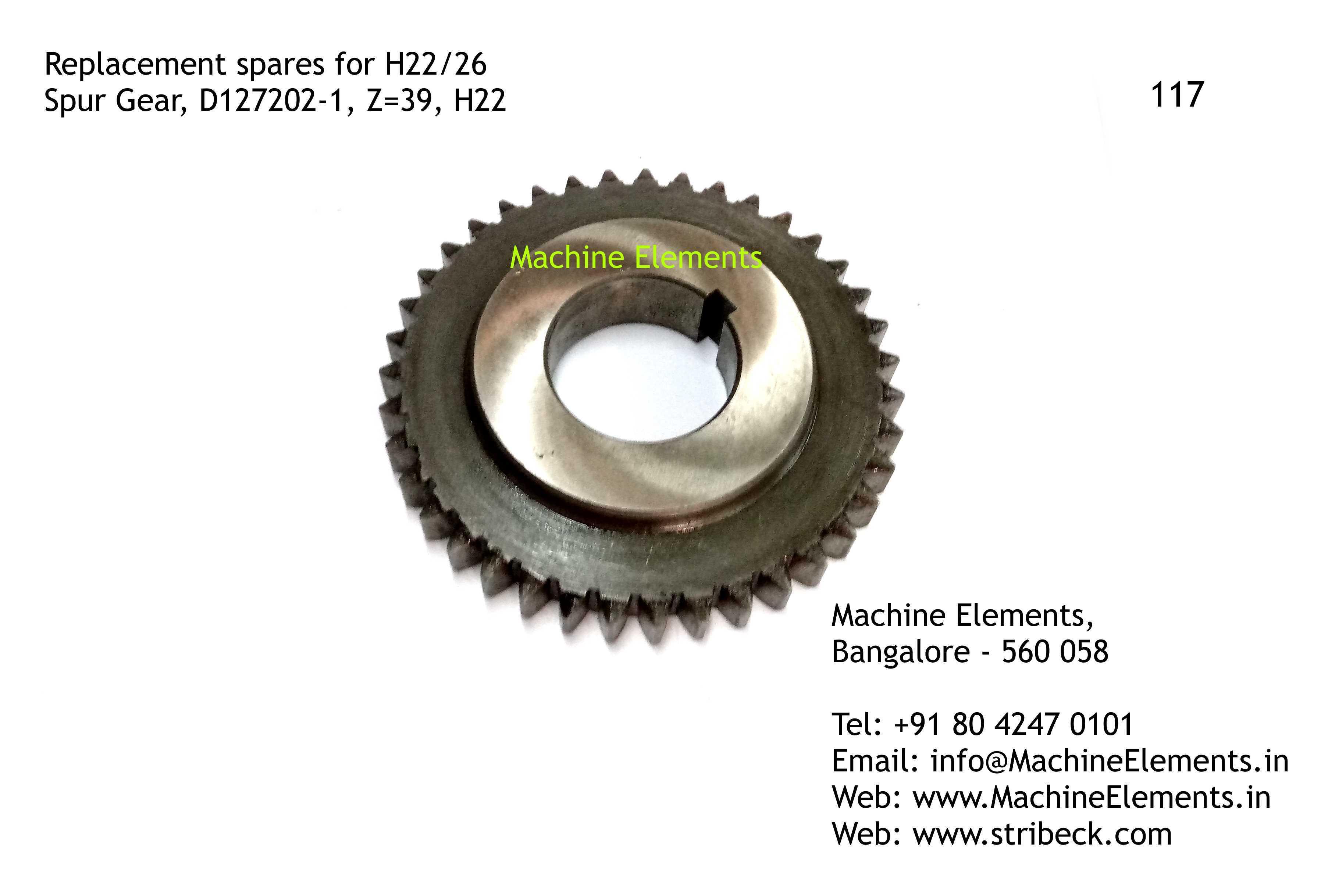 Spur Gear, D127202-1, Z=39