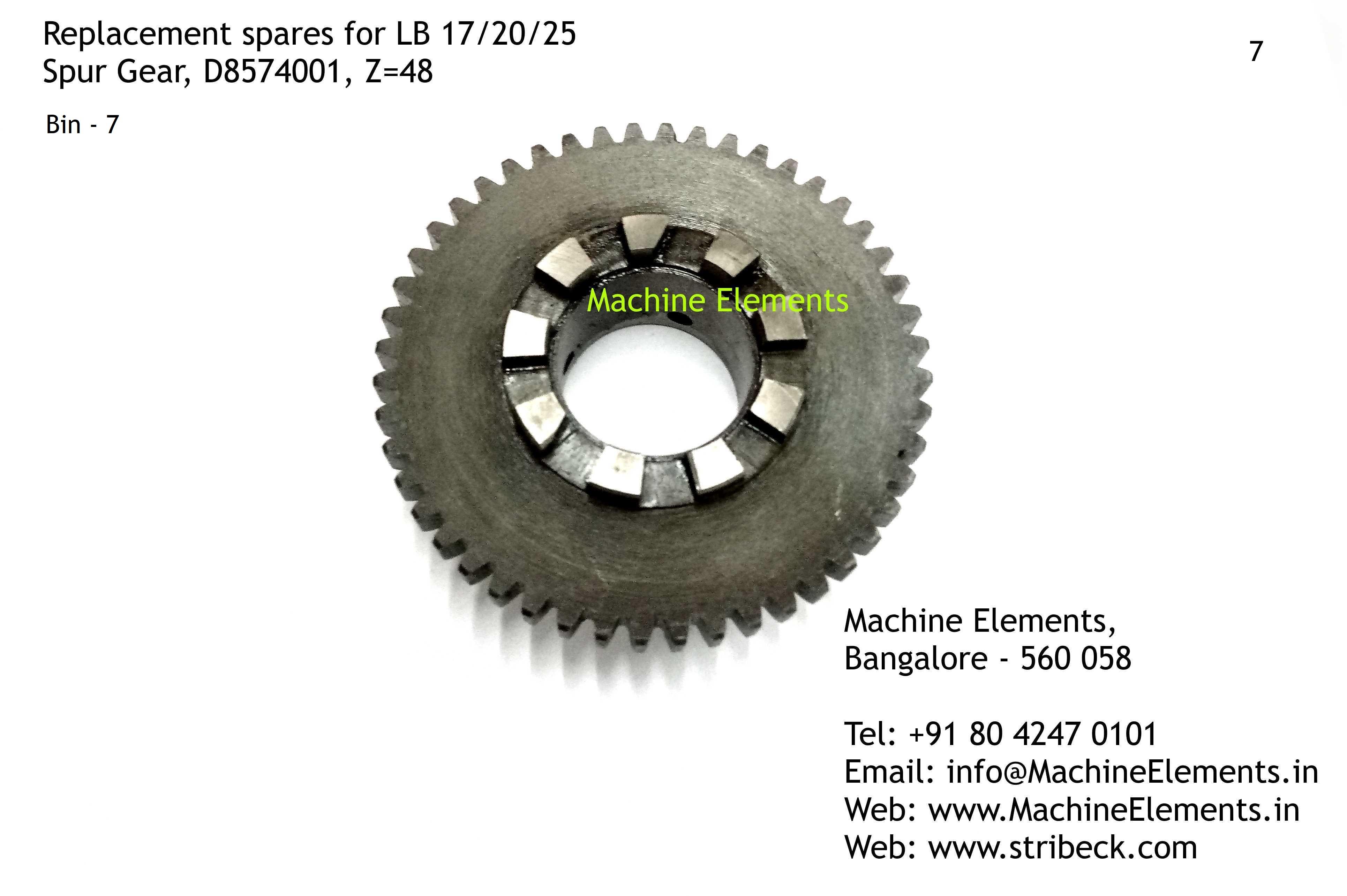 Spur Gear, D8574001, Z=48
