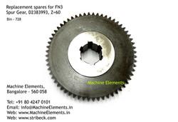 Spur Gear, D2383993, Z=60