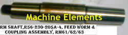 R56-230-205A-4 FEED WORM & COUPLING ASSM