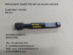 CLAMP BOLT A761501 BIN 643