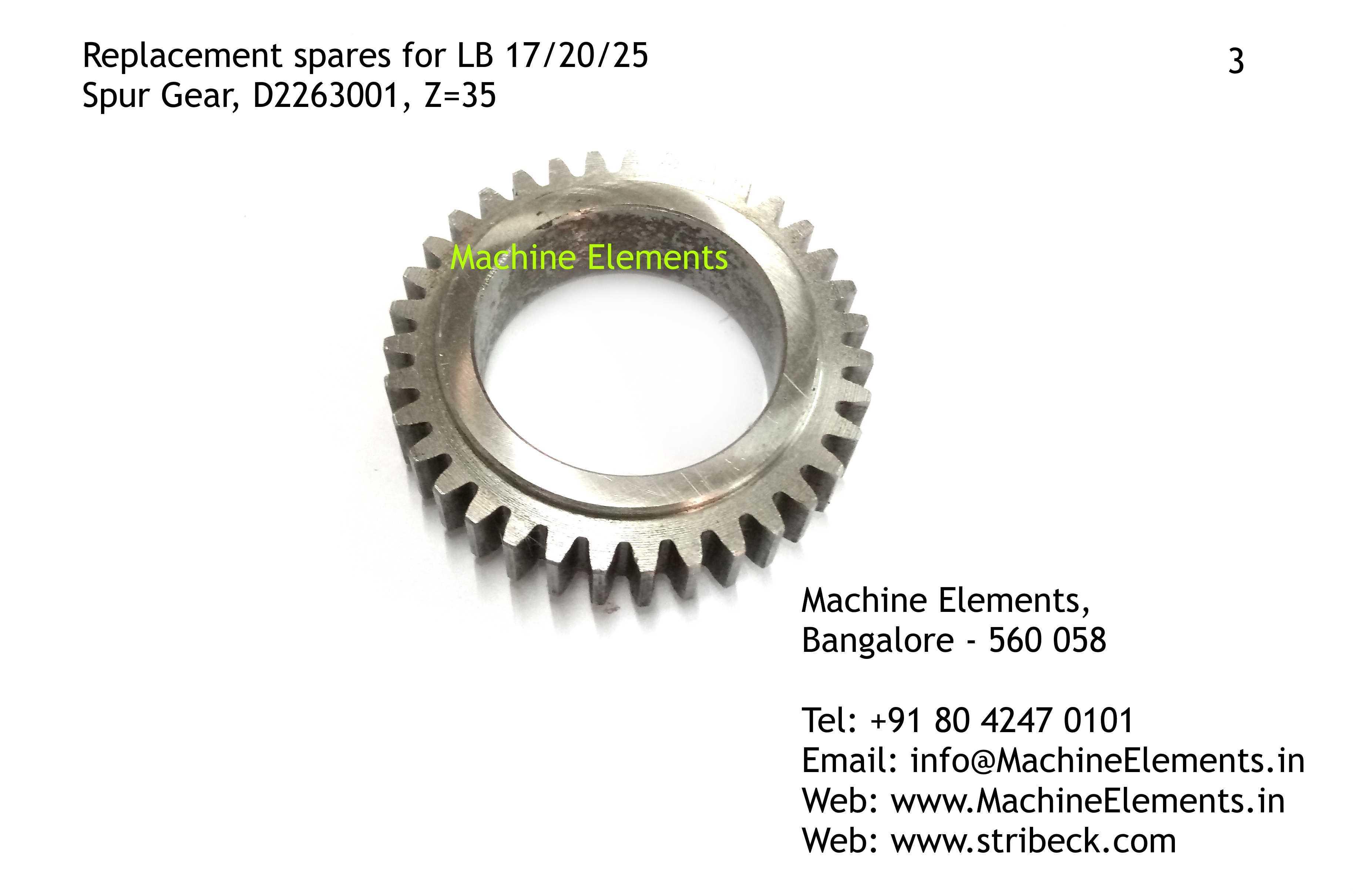 Spur Gear, D2263001, Z=25