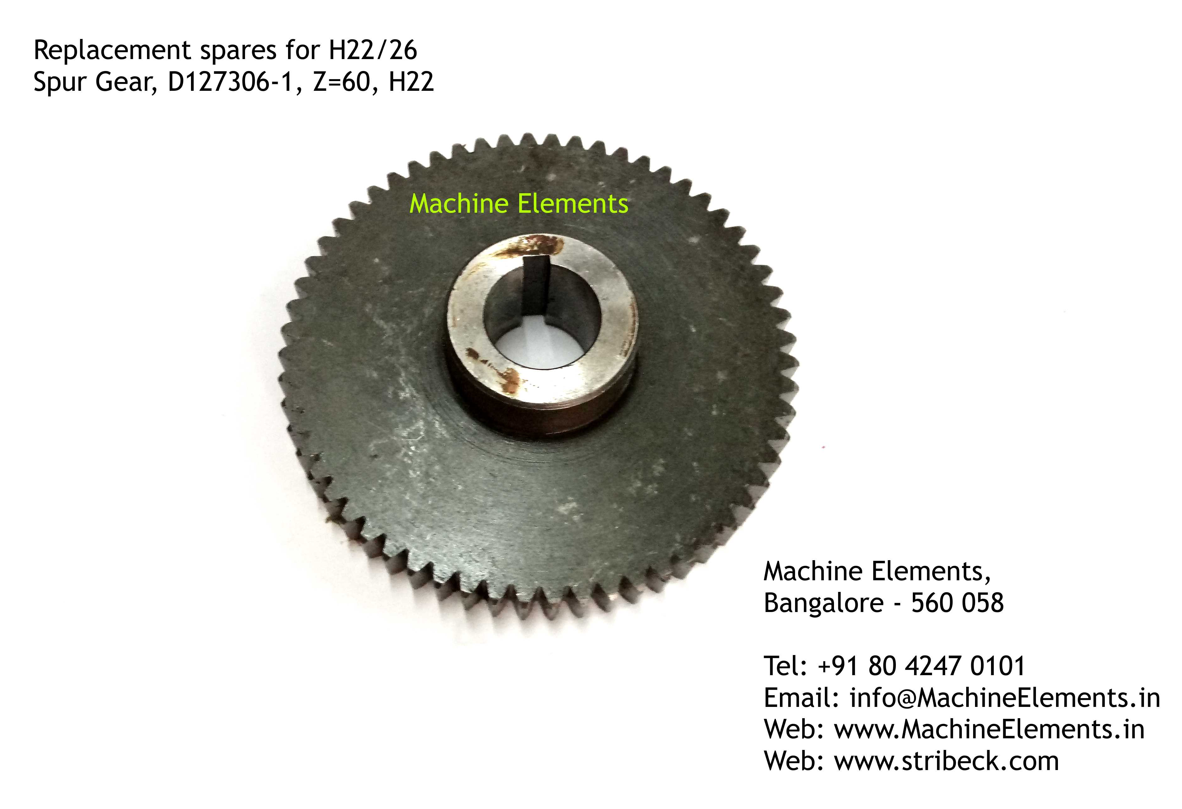 Spur Gear, D127306-1, Z=60