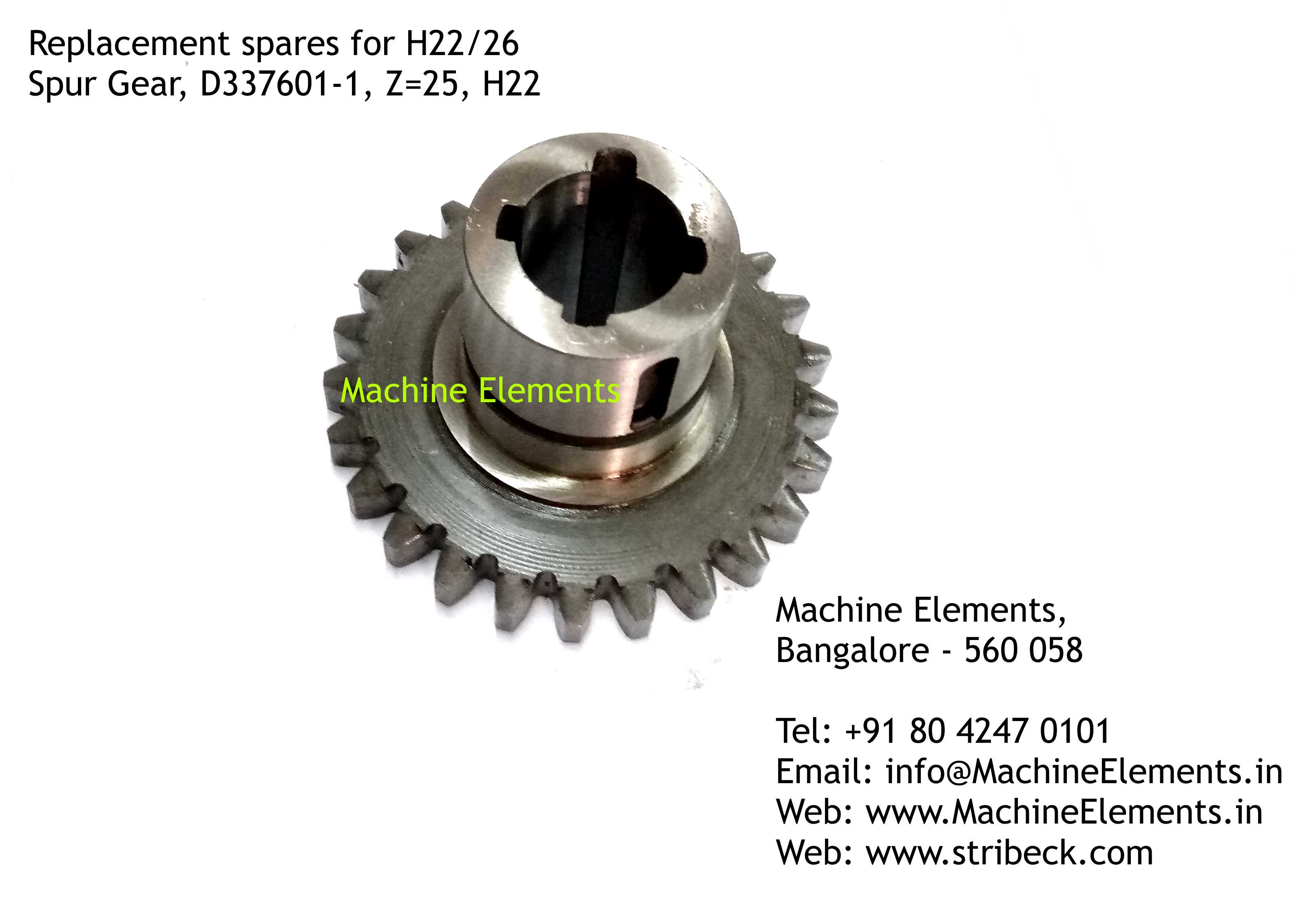 Spur Gear, D337601-1, Z=25