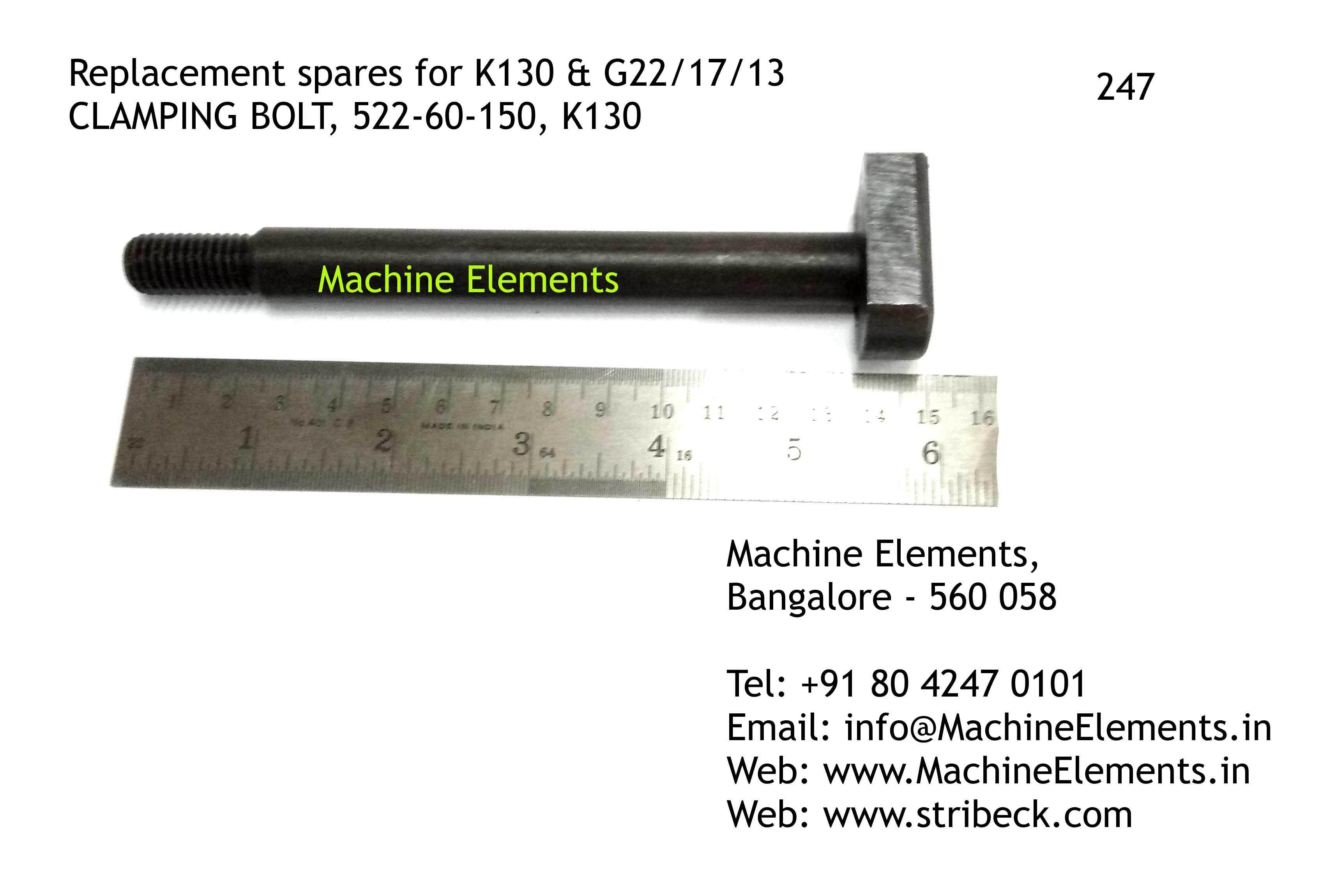 CLAMPING BOLT, 522-60-150, K130