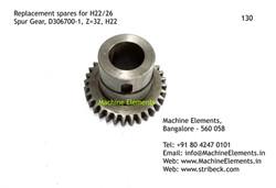 Spur Gear, D306700-1, Z=32