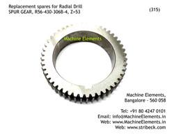 SPUR GEAR, R56-430-306B-4, Z=53