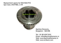 Spur Gear, D4377802, Z=49