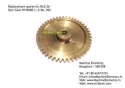Spur Gear, D158200-1, Z=46, H22