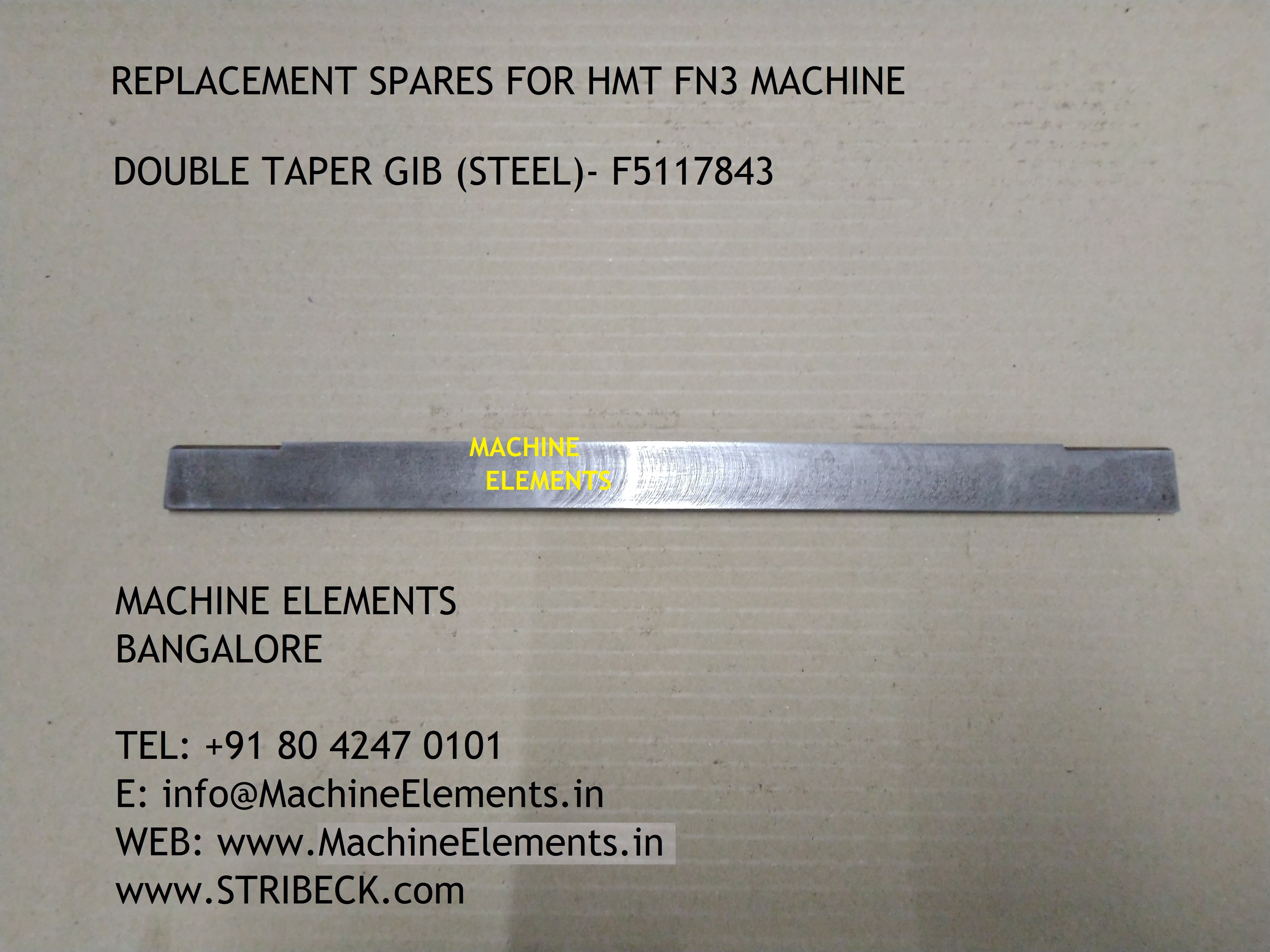 DOUBLE TAPER GIB (STEEL) - F5117843
