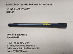 SPLINE SHAFT A3546803 bin 537