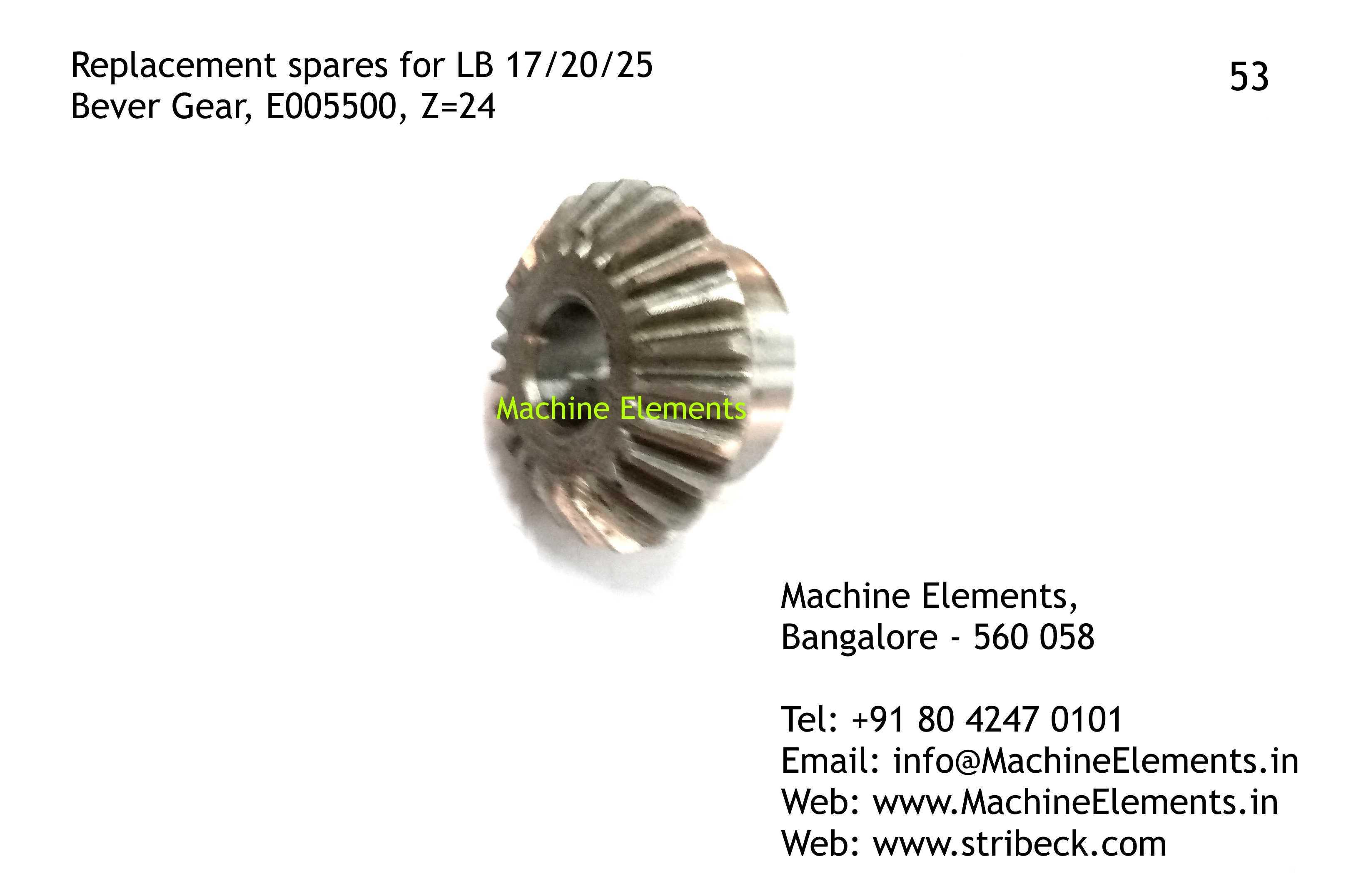 Bever Gear, E005500, Z=24