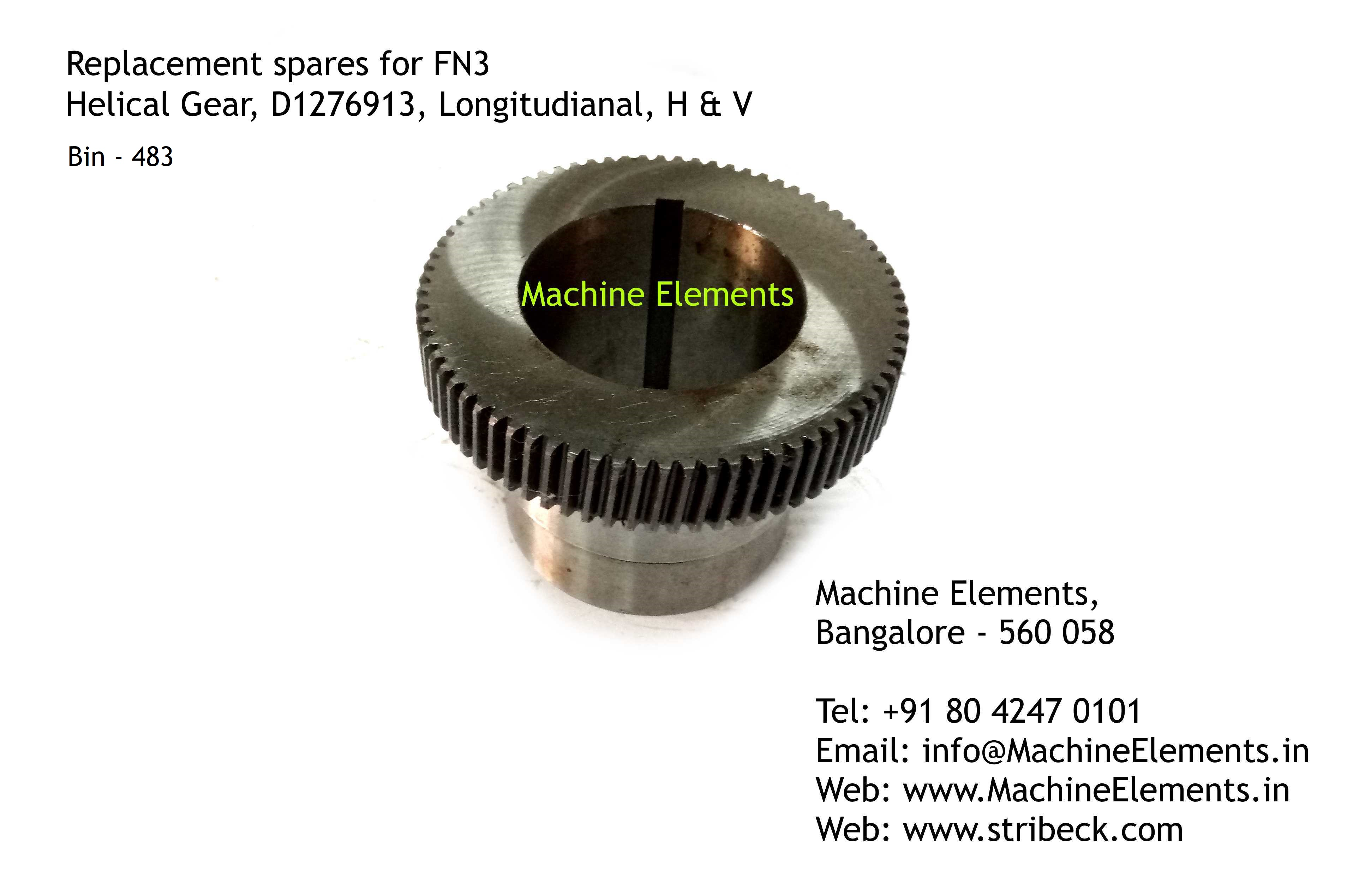 Helical Gear, D1276913, Longitudinal, H