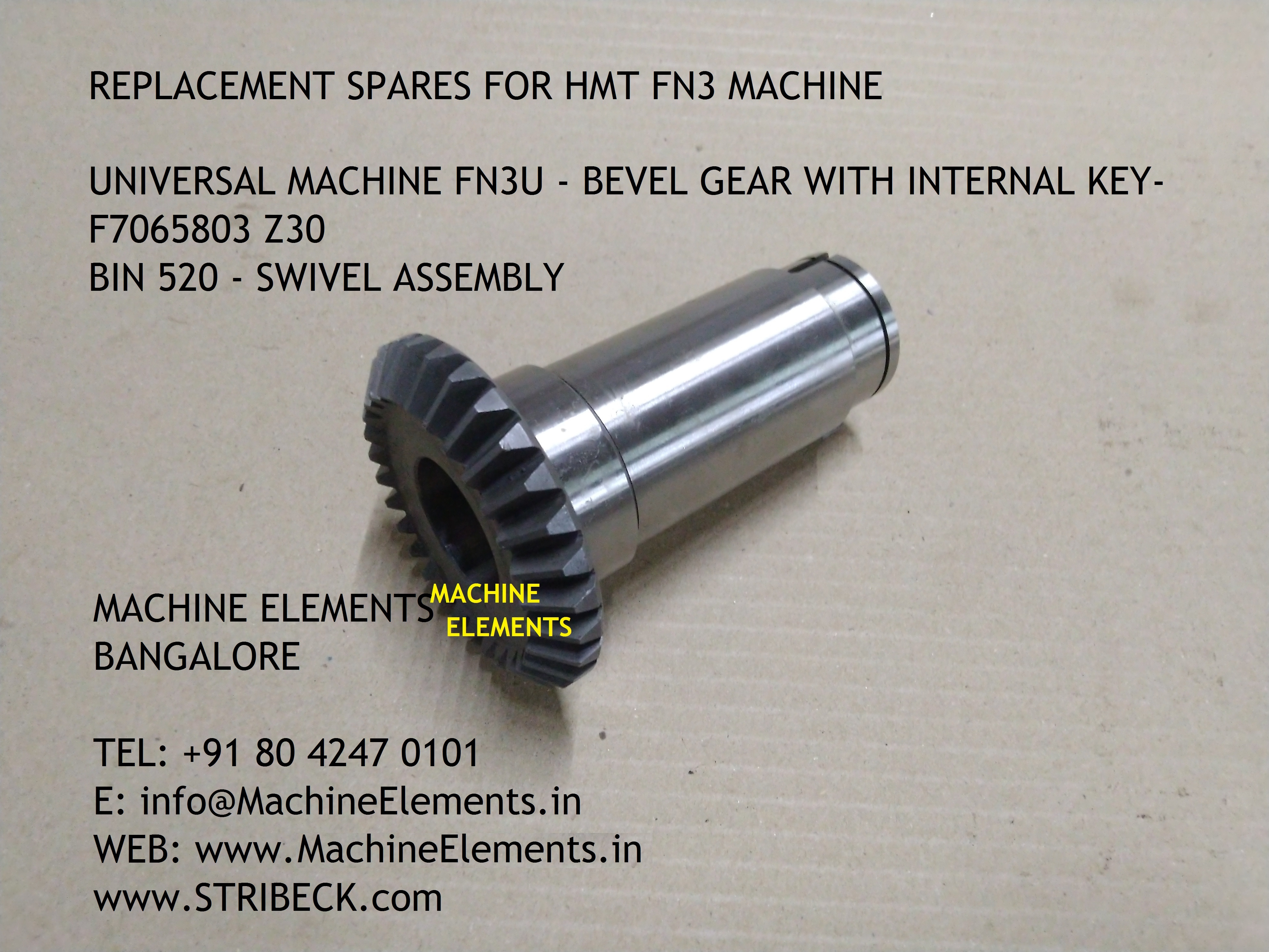 FN3U - BEVEL GEAR WITH KEY - F7065803 Z3