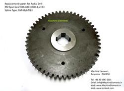 RM Spur Gear R56-880-300D-4, Z=53, Splin
