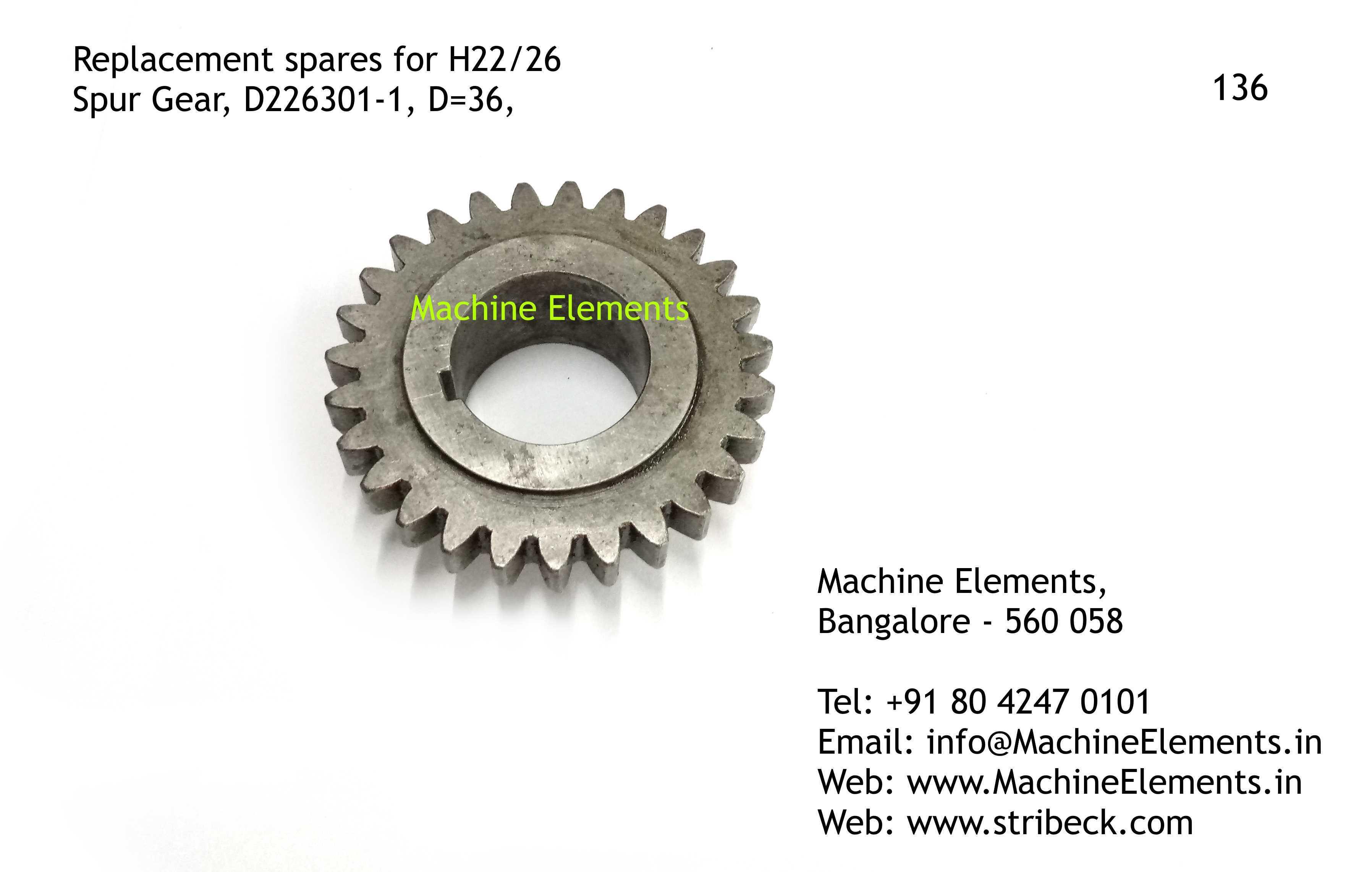 Spur Gear, D226301-1, D=36