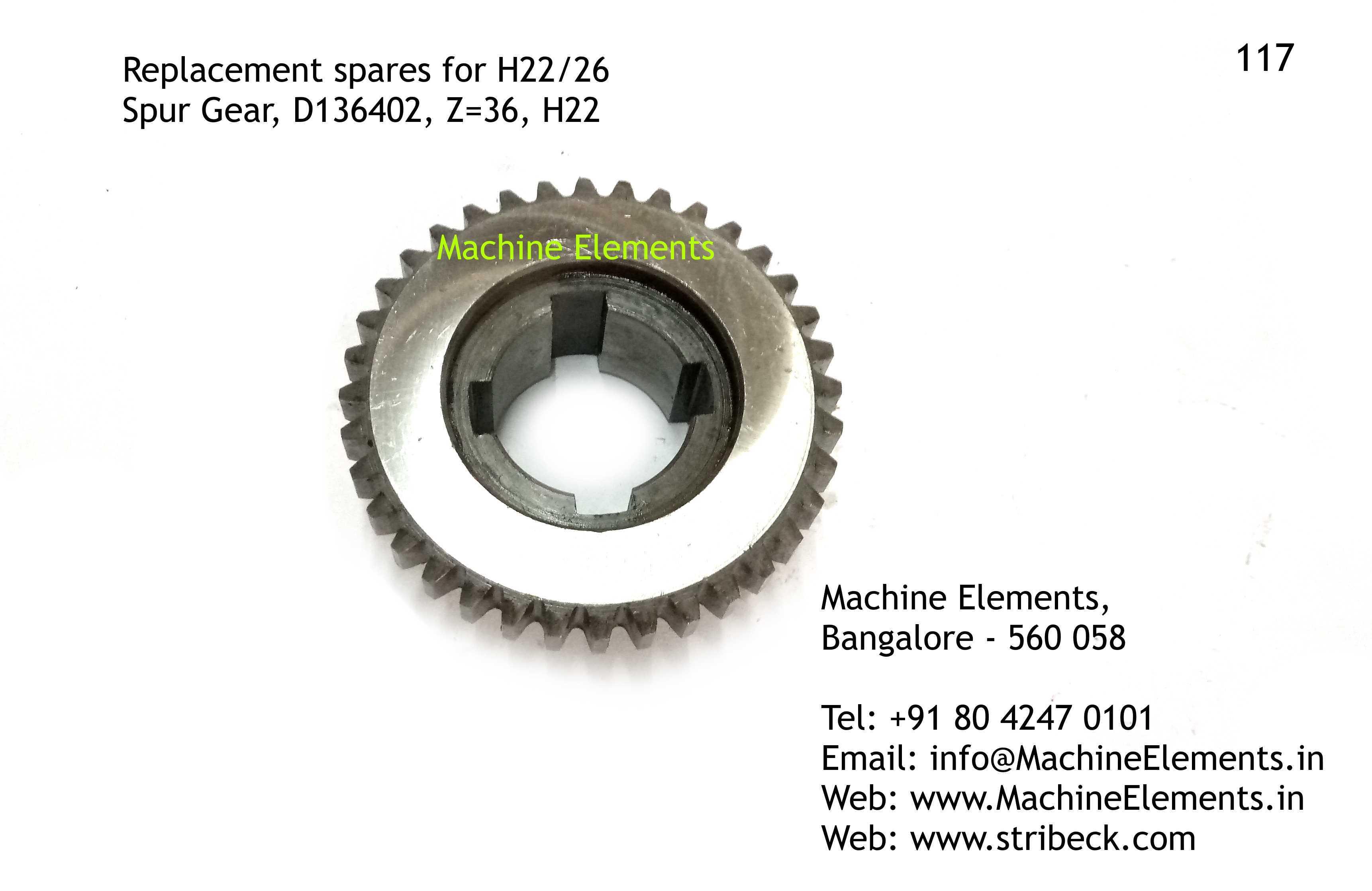 Spur Gear, D136402, Z=36