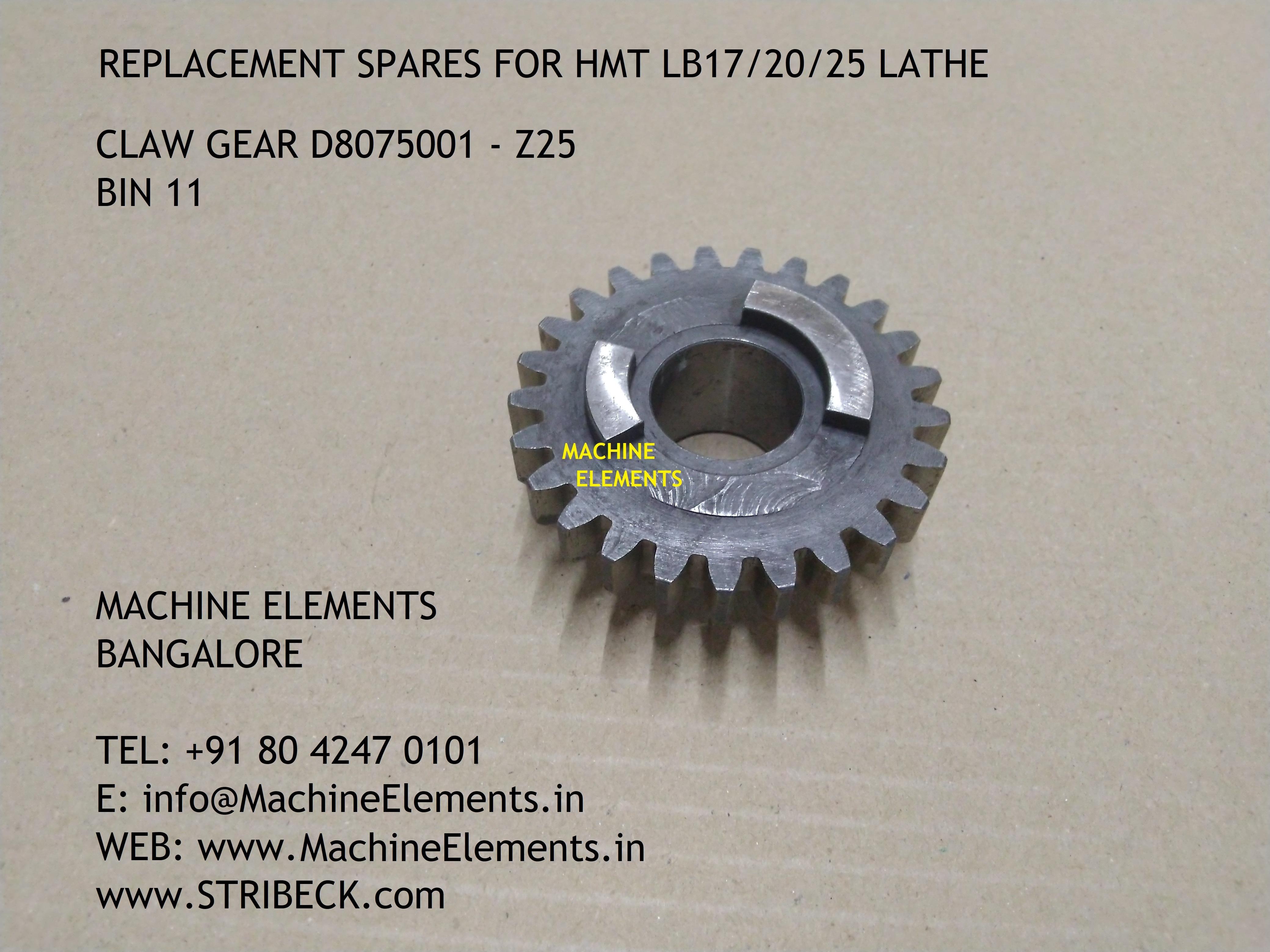 CLAW GEAR  - D8075001 - Z25 BIN 11