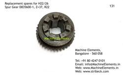 Spur Gear, D835600-1, Z=37
