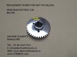 spur gear d2775033 z38 bin 492