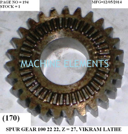 100 22 22 SPUR GEAR WITH FACE CLUTCH Z-2