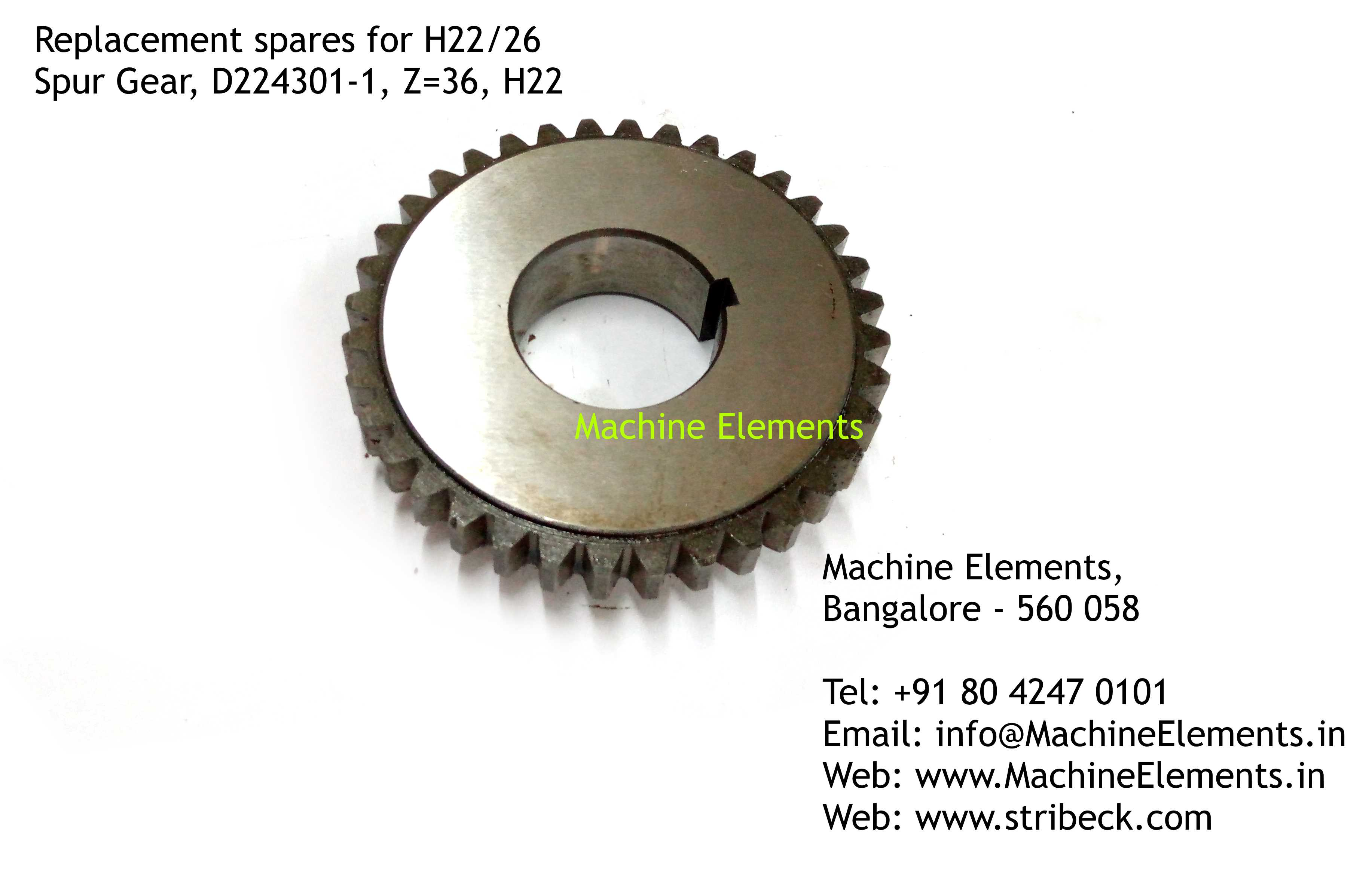 Spur Gear, D224301-1, Z=36