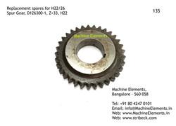 Spur Gear, D126300-1, Z=33