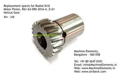 Motor Pinion, R61-63-090-301A-4, Z=21, H