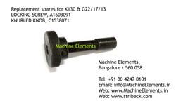 LOCKING SCREW A1603091, KNURLED KNOB C15