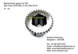 Spur Gear, D3377023, Z=32