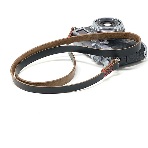 "The ""SOMER"" Handmade Horween Chromexcel Leather Camera Neck Strap - Black"