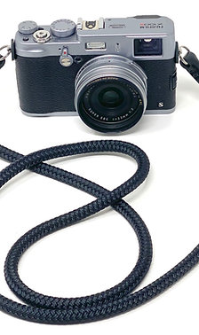 CORDY SLIM Black Braided Cord Camera Neck Strap