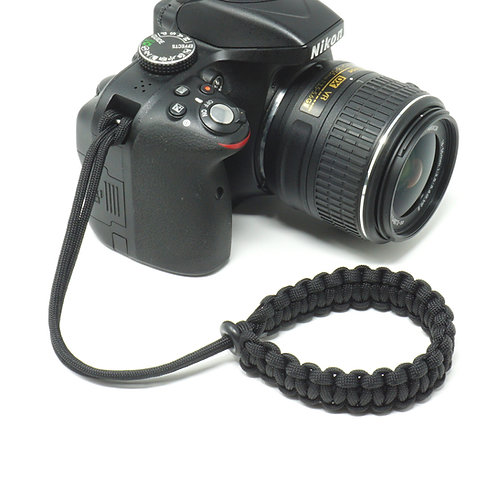 "The Original ""CORDY"" all Paracord Camera Wrist Strap"