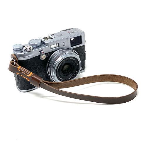 "The ""NORTON"" Handmade Horween Chromexcel Leather Camera Wrist Strap - Brown"