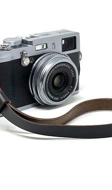 "The ""NORTON"" Handmade Horween Chromexcel Leather Camera Wrist Strap - Black"