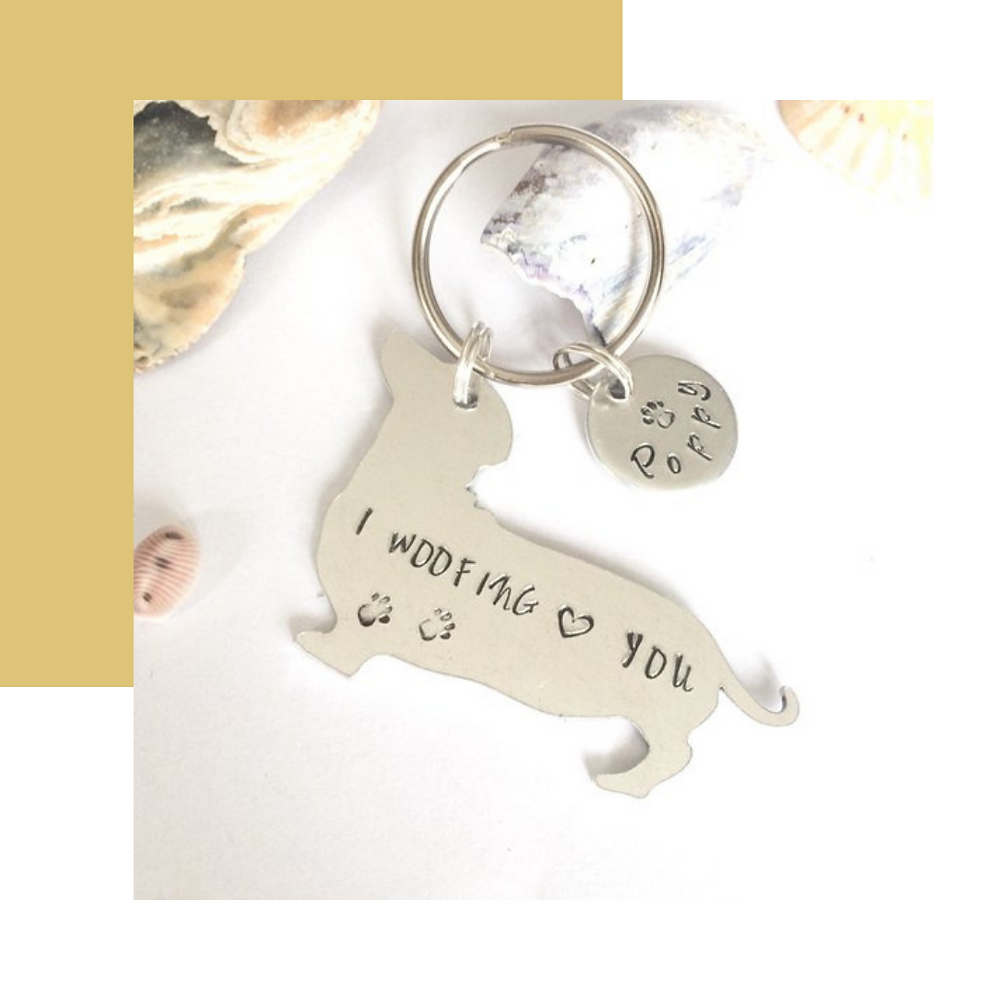 Oyster Catcher Creations: Personalised Doggy Keyring