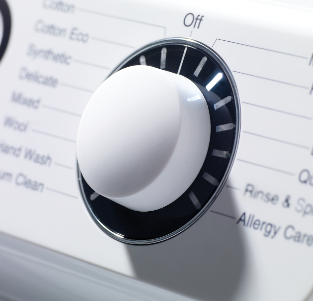 British washing machine with fast spin speeds and 100,000 hours of testing.