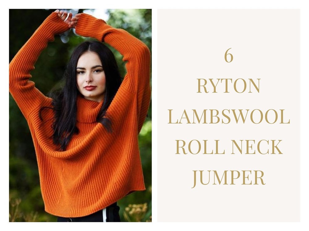 Ryton Lambswool Roll Neck Jumper from Foxology