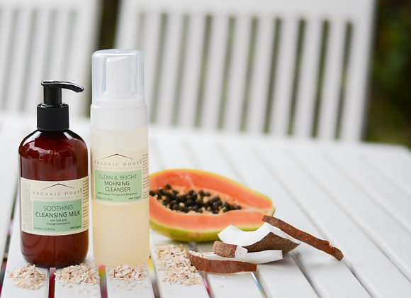 Clean & Bright Morning Foaming Cleanser with Papaya, Orange and Bergamot