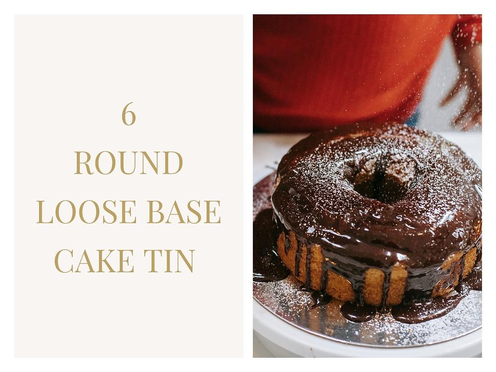 """6"""" Non-Stick Loose Base Deep Round Cake Tin - Samuel Groves"""