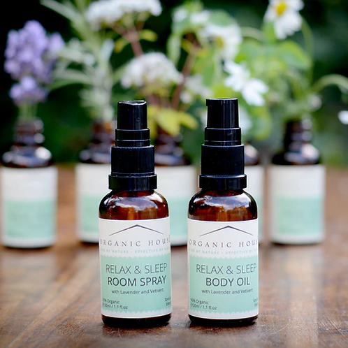 Relax & Sleep Pillow Spray and Body Oil Gift Set